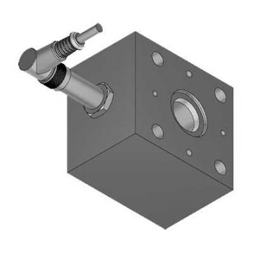 "Bucher Hydraulic 1/2"" 45 l/min four bank double acting lever valve 3 position sp"